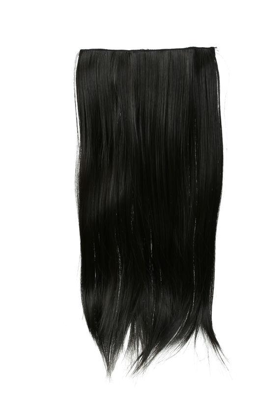 תוספת שיער קליפסים - חום כהה