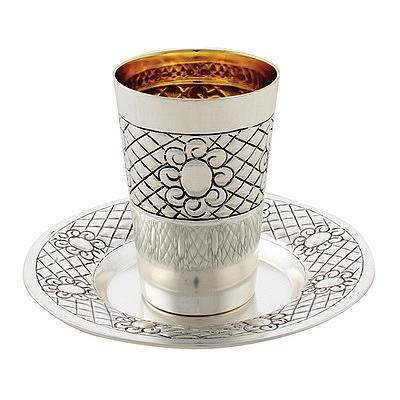 הוראות חדשות גביע קידוש - כוס קידוש - יודאיקה פור יו - Kiddush Cup - judaica world XF-78