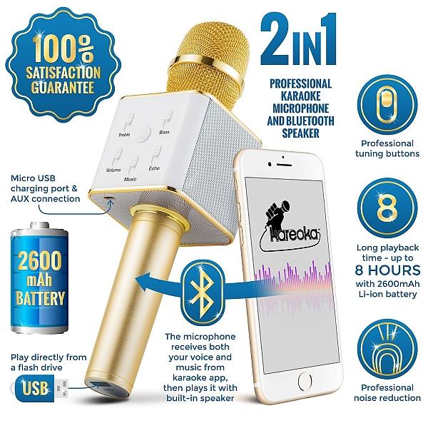כולם חדשים מיקרופון קריוקי   מיקרופון אלחוטי   מיקרופון בלוטוס   רמקול בלוטוס BO-01